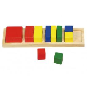 Տրամաբանական խաղ GT5751 «Քառակուսի», 11 դետալից