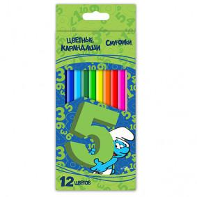 Մատիտներ 22364 գունավոր Սմուրֆիկի 12 գույն