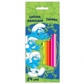 Մատիտներ 22365 գունավոր Սմուրֆիկներ 24 գույն