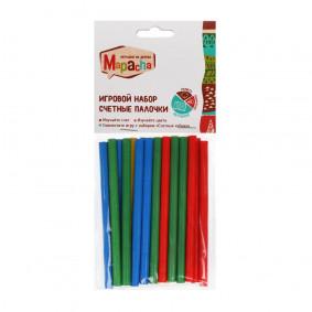 Счетные палочки: 20 шт, 4 цвета, 1 палочка 9 см