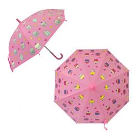 Зонт детский  53745 Пирожное, рисунок проявляется, полуавтомат, 48,5см.