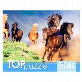 TOPpuzzle. ПАЗЛЫ 500 элементов. КБТП500-4198 БЕГУЩИЙ ТАБУН