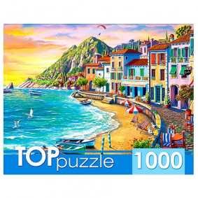 TOPpuzzle. ПАЗЛЫ 1000 элементов. ХТП1000-2169 Курортный город на закате