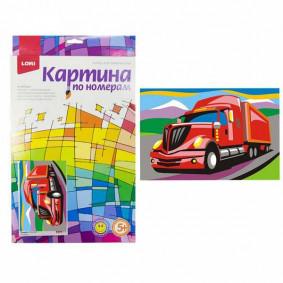 Ркн-026 Картина по номерам для малышей Американский грузовик