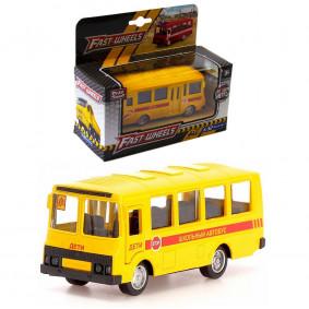 Автобус 1:52 6523-D Служба спасения, металл, в коробке, Play Smart