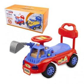 Каталка 17998-4329 Машинка для катания детей, сине-красная
