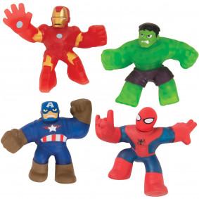 Гуджитсу Игровой набор 4 тянущиеся фигурки Марвел. ТМ GooJitZu