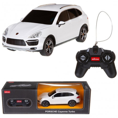 Машина р/у 1:24 Porsche Cayenne Turbo Цвет Белый 27MHZ