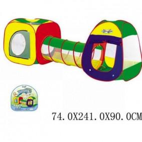 Палатка 889-7А с тоннелем, детская, в сумке