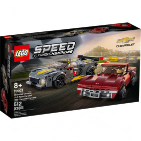 Конструктор LEGO Speed Champions Chevrolet Corvette C8.R Race Car and 1968 Chevrolet Corv