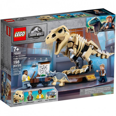 Конструктор 76940 Скелет тираннозавра на выставке LEGO JURASSIC WORLD