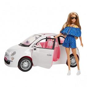 Игровой набор FVR07 Кукла Барби с машиной Фиат Barbie