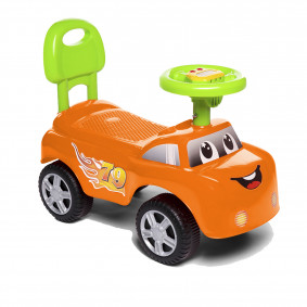 Каталка 618A оранжевая со звуком, в коробке