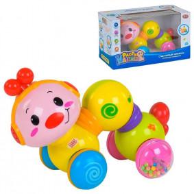 Игрушка 7668 Счастливый червячок со светом и звуком, на батарейках, в коробке, Play Smart