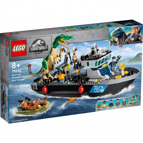 Конструктор 76942 Побег барионикса на катере LEGO JURASSIC WORLD