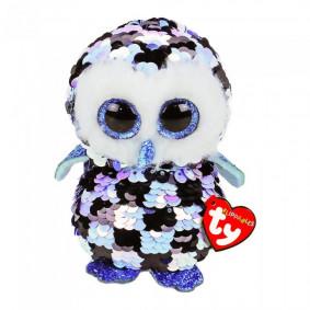 Փափուկ խաղալիք 36799 OWL SEQUIN BLU/BLK MED