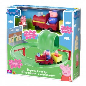 Набор 33847 игровой Паровозик с туннелем Peppa Pig