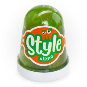 Сл-019 STYLE SLIME, փայլփլուն, կանաչ, խնձորի հոտով