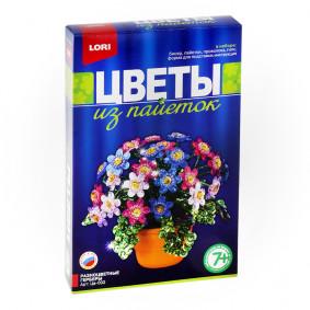 Ծաղիկներ ուլունքներից Цв-002 Բազմագույն գերբերանե