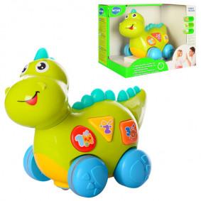 Динозаврик 7725 Расти малыш со светом и звуком, на батарейках, в коробке, Play Smart