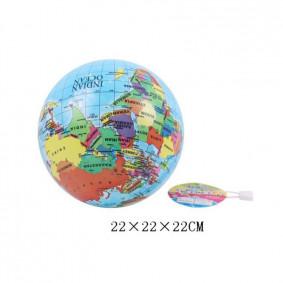 Գնդակ 6208 աշխարհի քարտեզ  ПВХ, 22 սմ