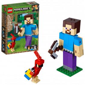 Կոնստրուկտոր 21148 Minecraft Ստիվ և թութակ LEGO