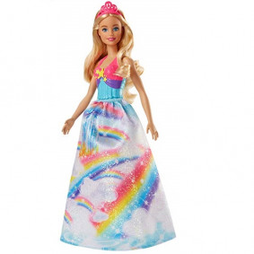 Տիկնիկ FJC94/FJC95 Rainbow Cove Princess Barbie