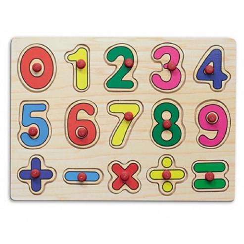 Փայտե Փազլներ 29.5х21.5 թվեր և նշաններ П-9687