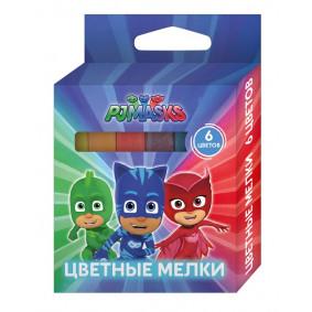 Կավիճներ 6 գույն Դիմակներով հերոսներ тм PJ Masks 3