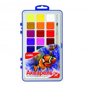 Ջրաներկ Акв-004 (մեծ) 24 գույն, առանց վրձինի LORI