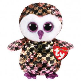 Փափուկ խաղալիք 36673 CHECKS - SEQUIN PINg/BLK OWL