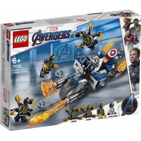 Конструктор 76123 Super Heroes Америка: Атака Аутрайдеров LEGO