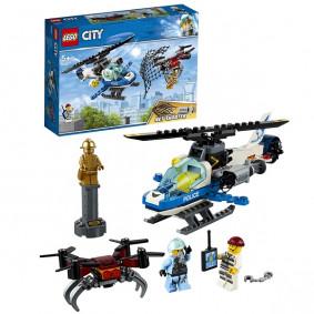 Конструктор 60207 CITY Воздушная полиция: погоня дронов LEGO
