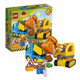 Конструктор 10812 DUPLO Town Грузовик и гусеничный экскаватор LEGO
