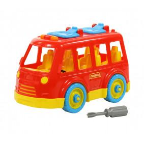 Конструктор-транспорт Автобус малый (15 элементов) (в пакете)