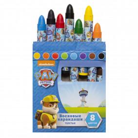 Մեղրամոմից մատիտներ 8 գույն Շների պարեկախումբ тм P