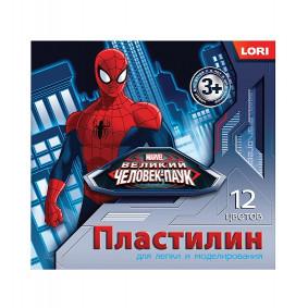 Պլաստիլին Սարդ-մարդ 12 գույն 20 գր. Плд-011 LORI
