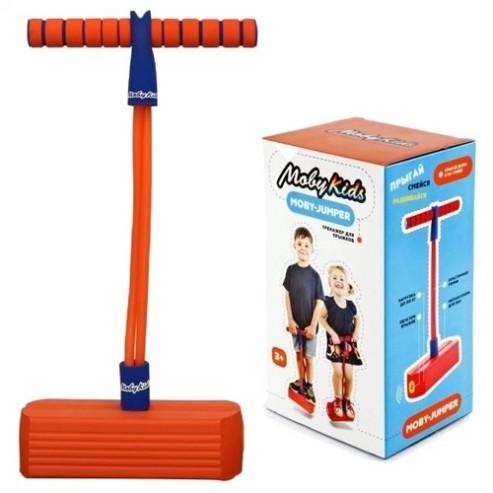 MobyJumper. Тренажер для прыжков со звуком, оранж.