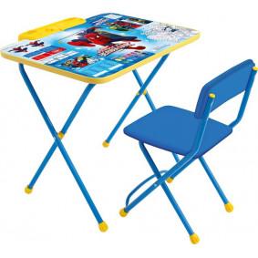 Կոմպլեկտ Д2Ч Սարդ-մարդ (սեղան + փափուկ աթոռ) NIKA