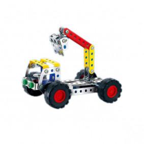 Конструктор 898B-7 металлический Кран, 134 деталей, в коробке 28*24*4см