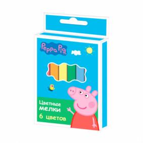 Գունավոր կավիճ 32065, 6 գույն Peppa Pig