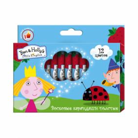 Մեղրամոմից մատիտներ 12 գույն BEN & HOLLY 31666