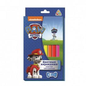 Գունավոր մատիտներ 12 գույն Paw Patrol 31856
