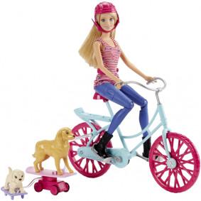 Barbie На велосипеде с питомцем CLD94