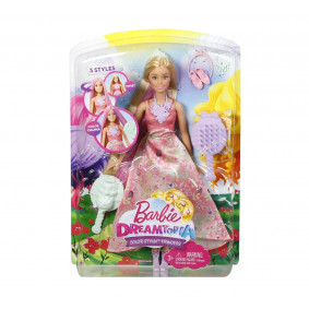 Barbie Принцесса с волшебными волосами DWH41