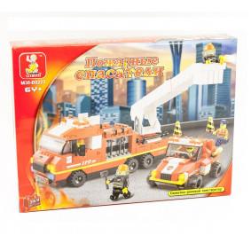 Конструктор M38-B0223 Пожарные спасатели, 363 деталей, в коробке 38*28,5*6см