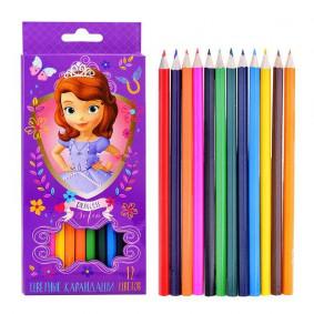 Գունավոր մատիտներ 12գույն Disney Սոֆիա 29032